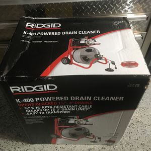 Ridgid K-400 powered drain cleaner for Sale in Lemont, IL