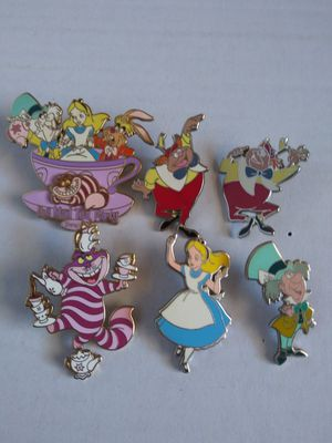 Disney Pins Alice in Wonderland (set of 6) for Sale in Wilmington, CA