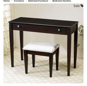 Coaster furniture vanity desk with stool for Sale in Scottsdale, AZ