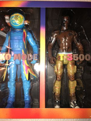 Travis Scott Cactus Jack Fortnite Action figure duo for Sale in Los Angeles, CA