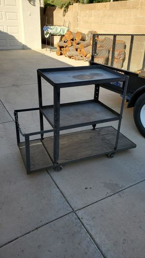 Heavy duty metal cart with rubber casters for Sale in Gilbert, AZ