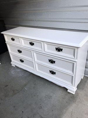 60w 18d 32h beautiful elegant white dresser furniture for Sale in Lake Elsinore, CA