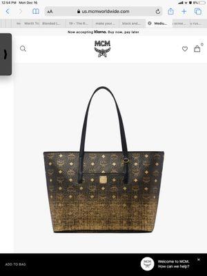 M c m bag authentic for Sale in San Jose, CA