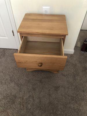 Bed, Bed frame and bedside locker, Medium sized tabletop mirror, metal rack, a vacuum cleaner, plastic storage shelf for Sale in Landover, MD