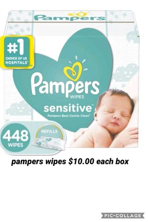 Pampers wipes (only one box available) for Sale in Los Angeles, CA