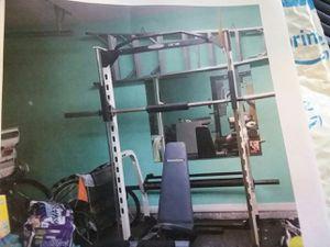 Weight machine weight rack Smith machine for Sale in Ocala, FL