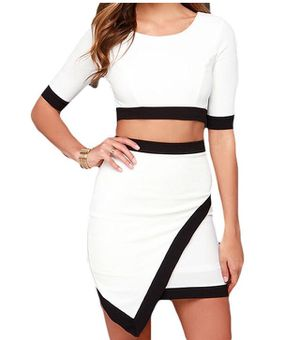 Used, Lulus's women's white and black quarter sleeve set for Sale for sale  New York, NY