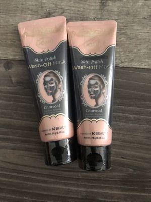 Joah skin polish wash off mask charcoal k-beauty $3 each for Sale in Arrowhead Farms, CA