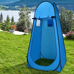 Portable Pop up Camping Fishing Bathing Shower Toilet Changing Tent Room Blue for Sale in South El Monte,  CA