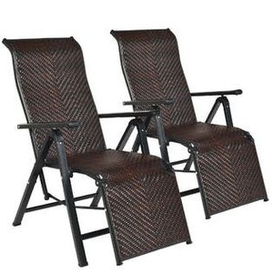 New 2PCS Patio Rattan Folding Lounge Chair for Sale in Hacienda Heights, CA