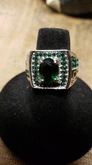 Emerald green marquis cut silver for Sale in Farmville, VA