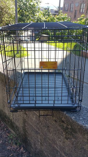 Collapsible dog crate cage kennel 30 inches long for Sale in Seattle, WA