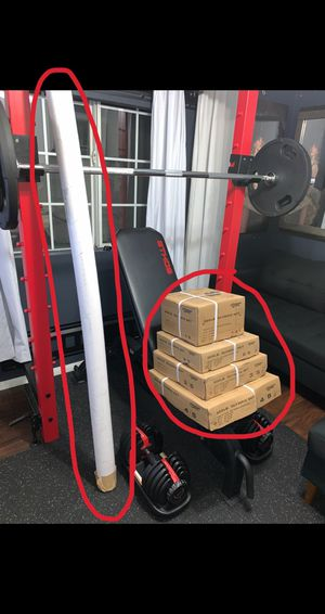 300lb Olympic Weight Set with Bar for Sale in Los Angeles, CA