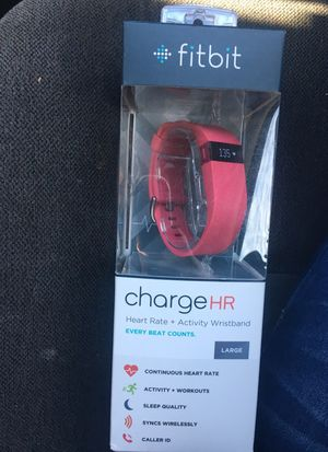 New !! Fitbit chargeHR large pink for Sale in Santa Monica, CA