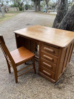 Antique desk with chair circa 1898 for Sale in Brownsville, TX