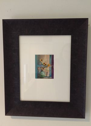Framed still life photo of in beautiful dark wood frame for Sale in MARTINS ADD, MD