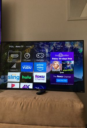 Tcl roku tv 43 inches two weeks old still new for Sale in Chula Vista, CA