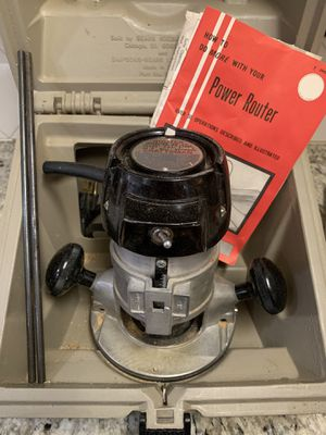Craftsman Router 3/4 H.P.- includes case and bits. for Sale in San Ramon, CA