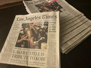 Los angeles times Lakers champions Oct 12/20 for Sale in Upland, CA