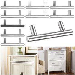 """10 PCS 4"""" T Bar Stainless Steel Kitchen Cabinet Door Handles Drawer Pulls Knobs for Sale in Chino,  CA"""