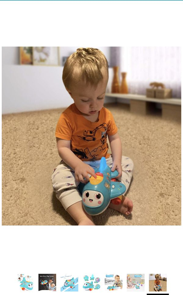 BRAND NEW Baby Airplane with Lights and Music, Electronic Moving Toys for 1 2 3 4 Year Old