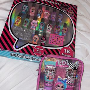 LOL Surprise Dolls Nail Polish Set AND Bath Set for Sale in Jurupa Valley, CA