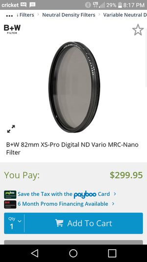 B+w pro filter 82 cir-pol for Sale in La Vergne, TN