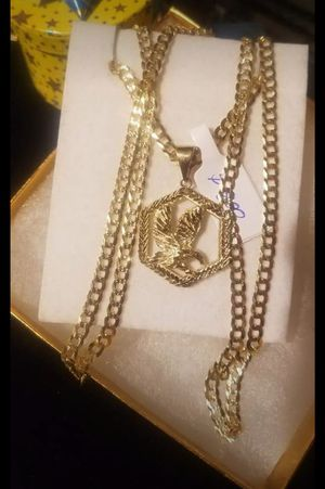 special offer mens chain Italian 14k gold measures 24 Inches long for Sale in Manassas Park, VA