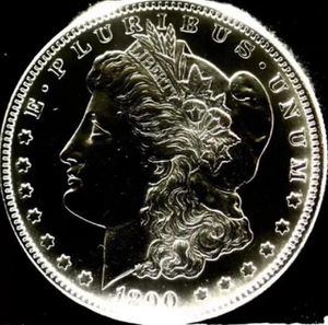 PROOF-Like 1890 Morgan Dollar- Exceptionally Detailed & High Grade Coin, 3750 Dollar Greysheet Value! for Sale in Washington, DC