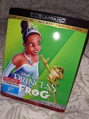 Princess and the frog 4k Blu-ray with digital code for Sale in Anaheim, CA