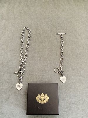 Juicy couture matching necklace, bracelet, and charms for Sale in Salinas, CA