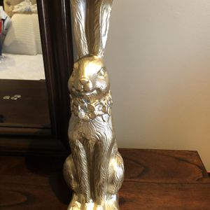 Gold Bunny Holder With Candles for Sale in Brooklyn, NY