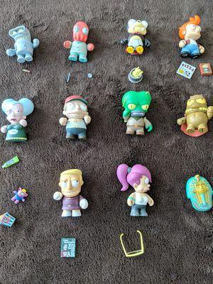 Lot of Futurama Kid Robot Kidrobot Series 1 Vinyl Figures + Accessories for Sale in Austin, TX