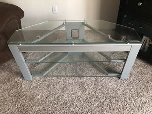 Glass TV stand for Sale in Fresno, CA