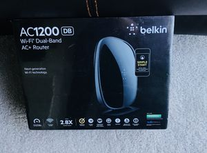 Brand New in box/ sealed - Belkin AC1200db Wifi dual-band router (mobile app included) for Sale in Canton, MI