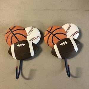 Sports Baseball Football Basketball Hanger Coat Hat for Sale in New Port Richey, FL