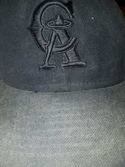 New Era 59Fifty Cap MLB Black on Black California Angels Cooperstown 7 3/4 for Sale in Clovis,  CA