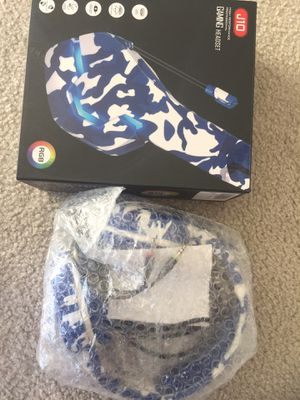 Brand new gaming headset headphone RGB with mic for Xbox. PS PS4. for Sale in Falls Church, VA