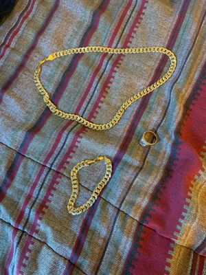18k gold chain & bracelet & ring for Sale in Garfield Heights, OH