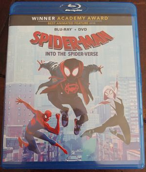 SPIDER-MAN INTO THE SPIDER-VERSE (BLU RAY + DVD) ***SEE OTHER POSTS*** for Sale in El Cajon, CA