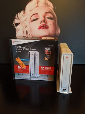 ARRIS SURFboard SBG6900AC Docsis 3.0 16x4 Cable Modem/ Wi-Fi AC1900 Router for Sale in Upland, CA