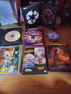 DVD PlayStation game $5. DVD movie Latham president that is also $5. Expendables $10 Bambi $10 Beauty and the Beast $10 for Sale in Highland Park, MI