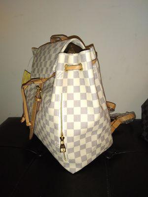 White black backpack checkerboard print for Sale in Marietta, GA