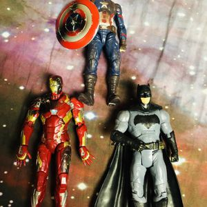 Captain America Iron Man And Batman Action Figures for Sale in Santa Ana, CA
