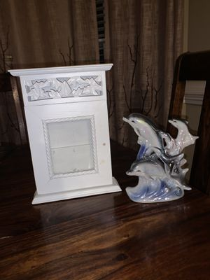 Jewelry box and dolphin sculpture for Sale in Garner, NC