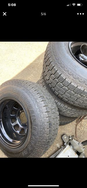 Rims with tires 235/75/R15 6X139 A/T All WEATHER for Sale in Mountain Center, CA