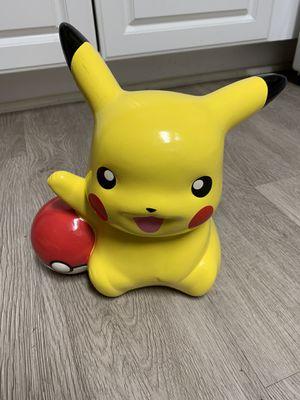 "Pokemon PIKACHU & Pokeball 9"" Ceramic Piggy Bank FAB NY 2017 Nintendo Game Freak for Sale in San Diego, CA"