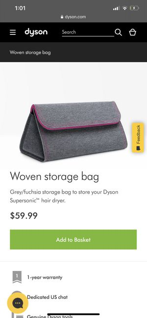 Dyson supersonic woven storage bag for Sale in Lake in the Hills, IL