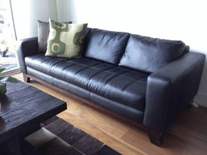 Black leather sofa for Sale in Washington, DC
