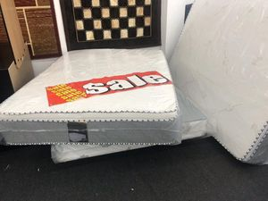 Queen bamboo pillow top mattress with boxspring for Sale in Pomona, CA